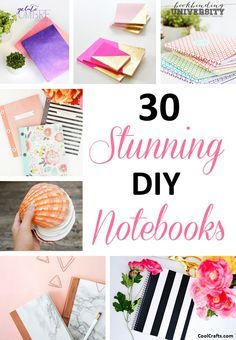 30 Customizable DIY Notebook Cover Ideas, http://www.coolcrafts.com/customizable-diy-notebook-covers/