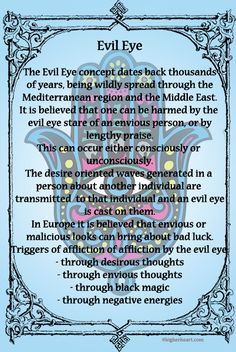 Evil Eye. I wear mine every day to help rid of evil in our lives. It's a middle eastern belief.