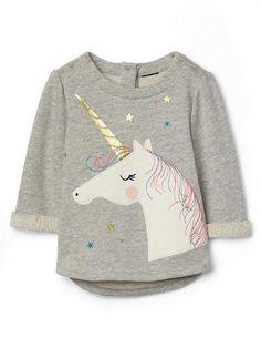 Unicorn terry pullover