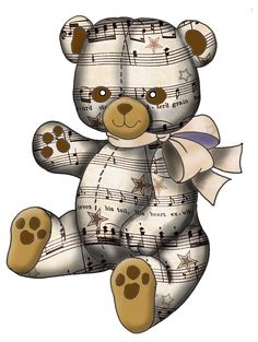 ArtbyJean - Vintage Sheet Music: dolls, teddies, balloons and toys#Repin By:Pinterest++ for iPad#