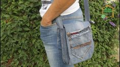Как сшить сумку своими руками из старых джинсов / шьем сумку через плечо / подробный мастер класс - YouTube