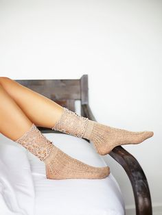 Free People Chloe Crochet Ankle Sock at Free People Clothing Boutique