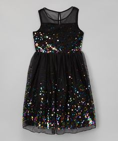 This Black Confetti Dress is perfect! #zulilyfinds