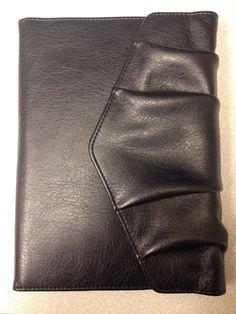 """Classic//Desk 1/"""" RingsBLACK Sim Leather DAY-TIMER Planner//Binder Fit Franklin"""
