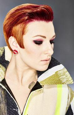 ginger short hair