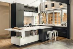 JENNY MARTIN DESIGN - The Edge - Modern, open concept kitchen with an industrial design flare.