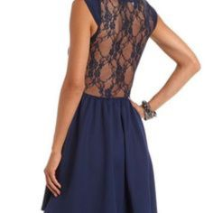 Nwt Lace Fit And Flare Dress - Full Lace Back