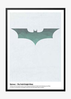Batman – The Dark Knight Super fed og æstetisk plakat plakaten passer både til en super Batman fan, men også til hverdagens helte:-)