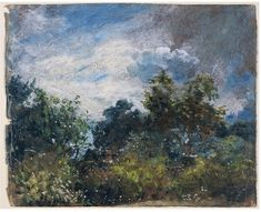 Study of sky and trees | Constable, John (RA) | V&A Search the Collections