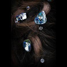 Paua Shell Hair Pin