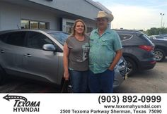 https://flic.kr/p/JK3LfR | Happy Anniversary to Cheryl on your #Hyundai #Tucson from Randy Hollingsworth at Texoma Hyundai! | deliverymaxx.com/DealerReviews.aspx?DealerCode=L967
