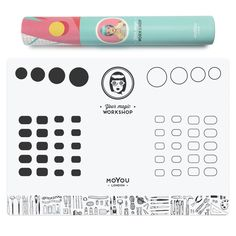 Easily create decals and reverse stamps. Protect your surfaces from nail polish stains. Clean up is a breeze! Your Magic Workshop is stain and acetone proof. The mat measures at x Nail Polish Stain, Stamping Nail Polish, Nail Polish Colors, Nail Art Kit, Nail Art Tools, Nail Stamping Designs, Art Mat, London Nails, Workshop Design