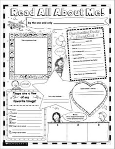 Read All About Me Fill-in Poster (K-2)