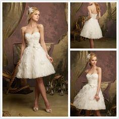 Cute Sweetheart Knee-length Mini Wedding Dress,Like it? (http://www.globebuy.com/i/233850.jhtml)