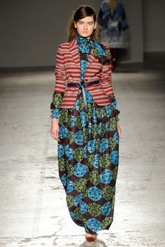 Stella Jean | Fall 2014 Ready-to-Wear Collection- African print with striped jacket