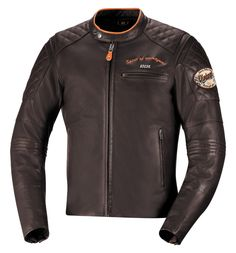 Eliott is a retro riding jacket part of the Spirit of '79 collection. Cool brown leather and vintage details for the #caferacer rider, the vintage bike enthusiast or any guy who wants the style and the performance. #ixs #motorcycle #ridingapparel