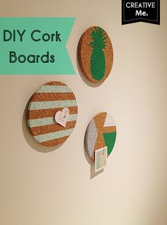 DIY cork boards idea - super cute.