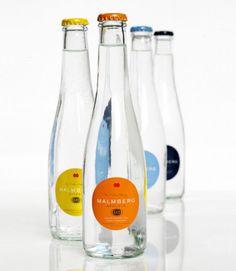 """Malmberg Original mineral water"" -Designed by Grey Water Packaging, Water Branding, Cool Packaging, Food Packaging Design, Bottle Packaging, Bottle Mockup, Packaging Design Inspiration, Product Packaging, Water Bottle Design"
