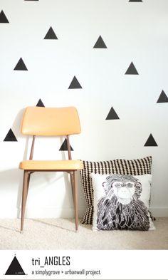 Vinyl Wall Sticker Decal Art - Triangles.