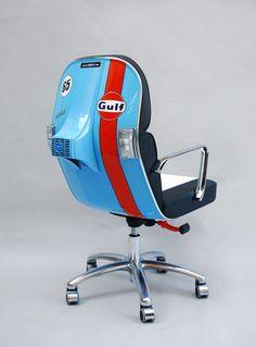 Bel & Bel - Estas cadeiras sensacionais são feitas com peças originais de Vespas dos anos 80.