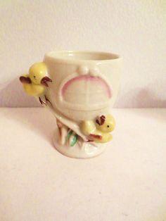 Vintage chicks egg cup by ArtnVintagebyDesign on Etsy