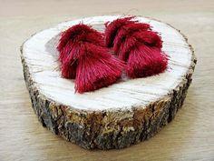 Items similar to Red Regina Boho Tassel Earrings Handmade Jewellery, Earrings Handmade, Unique Jewelry, Handmade Gifts, Updo, Tassels, Jewelry Accessories, Coconut, Smooth