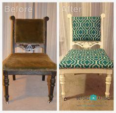 Easy DIY: Upholstered Flea Market Chair Flip With Nailhead Trim