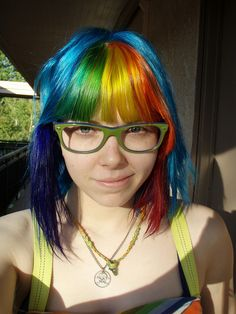 Rainbow hair summer 2011.