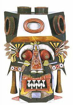 Antonio Berni, Máscara, c. 1967, escultura polimatérica, 124 x 86 x 37 cm. Col. privada Mexico Art, South America, Surrealism, Cool Art, Presents, Sculpture, Collages, Costumes, Sculptures