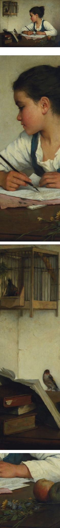 Eye Candy for Today: Henriette Browne's Girl Writing