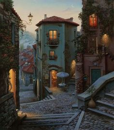 The Romantic Ancient Village of Campobasso in Italy.