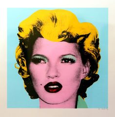 Kate Moss by the famous street artist Bansky