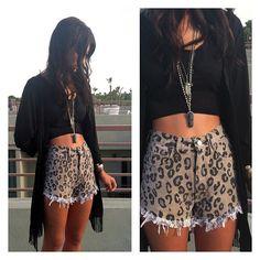 Vintage, cut off,  jeans,  shredded,  damaged,  fray,  grunge, omen eye, short, shorts, leopard