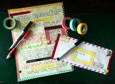 Washi Tape Letter