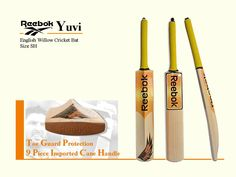Reebok Yuvi English Willow Cricket Bat | Buy Online India | Senior/SH Size | Price, Photos & Complete Features in Ultra Slow Mo | Specialist Cricket Shop India