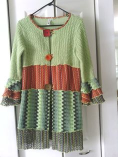 Beautiful Hand Jive color bock refashioned sweater