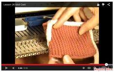 Обработка края i-cord на вязальной машине