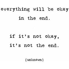 Everything will be OKAY!