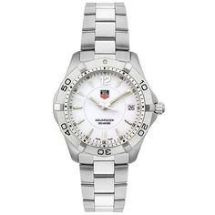 TAG Heuer Mens WAF1111BA0801 White Aquaracer Watch *** You can get more details by clicking on the image.