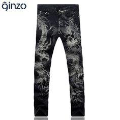 Dragon Print Slim Fit Jeans //Price: $46.99 & FREE Shipping //     #shopping