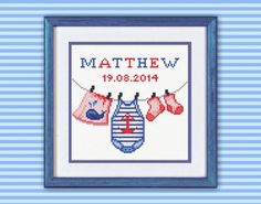 New beginnings Baby boy Cross Stitch Pattern PDF by TimeForStitch