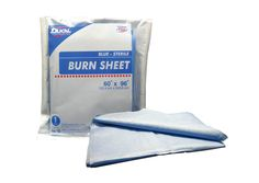 The DUKAL Burn Sheet is made of a laminated spun bounded material and may be used to provide a sterile environment to protect a patient from infection. The burn sheet's durable construction resists tearing and can be used in many environments.