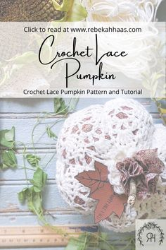 Make an adorable addition to your fall decor using this free crochet pattern. The small crochet lace pumpkin pattern can be found free by clicking the link. Crochet Fall Decor, Crochet Home, Love Crochet, Crochet Designs, Crochet Ideas, Crochet Projects, Diy Projects, Thanksgiving Crochet, Halloween Crochet Patterns