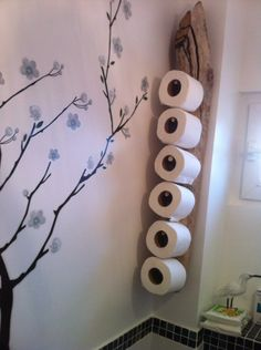 porte stock papier wc en bois flotté