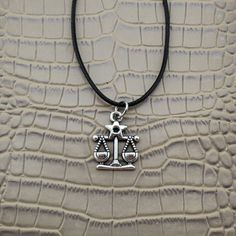 "Vintage Silver 12 Zodiac Signs Pendant 17"" Short Necklace"