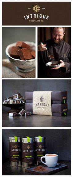 The Intrigue Chocolate Co. is a #Seattle based artisan #chocolate company fascinated by flavor exploration. Their look is as sophisticated and raw as their cocao.... symbolism matters. http://pinterest.com/intriguechocola/