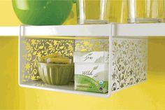 Vinea Undershelf Basket, White - modern - cabinet and drawer organizers -  - by Organize