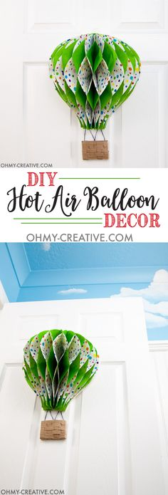 Kids Room Ideas: How to Make a Paper Hot Air Balloon