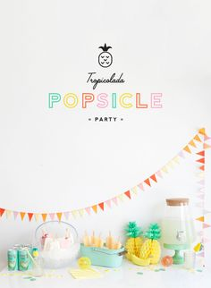 Jul 2018 - Ideas And Inspirations For A Popsicle Party! See more ideas about Popsicle party, Party and Popsicles. Popsicle Party, Fruit Party, Tropical Party, Happy Day, Birthday Parties, Birthday Bash, Party Planning, Party Time, First Birthdays