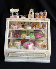 When my little girl is older, I'll set up a doll's house with a miniature bakery and create all the food and utensils with Fimo.